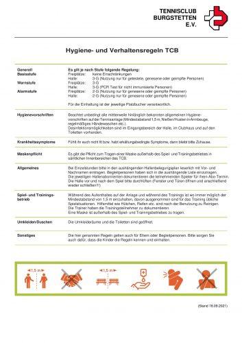 TCB Hygienekonzept